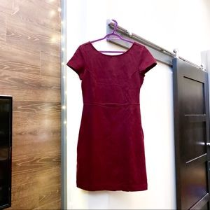 Semi-formal wine red dress